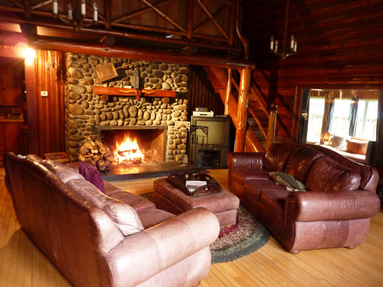 Copper Creek Lodge fireplace