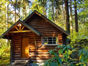 Copper Creek Log Cabin at Mount Rainier